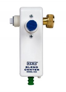 DEMA inline disinfectant dispenser